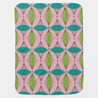 Atomic Pink Ogee & Starburst Baby Blanket