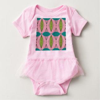 Atomic Pink Ogee & Starburst Baby Tutu Bodysuit