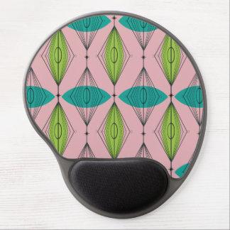Atomic Pink Ogee & Starburst Gel Mousepad Gel Mouse Mat