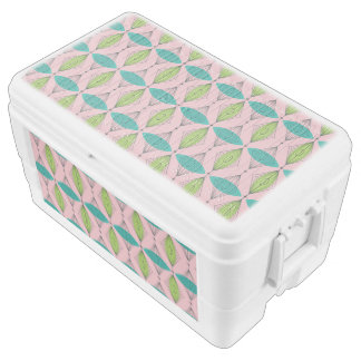 Atomic Pink Ogee & Starburst Igloo Cooler