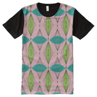 Atomic Pink Ogee & Starburst Panel T-Shirt