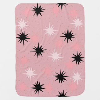 Atomic Pink Starbursts Baby Blanket