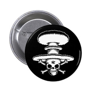 Atomic Pirate 6 Cm Round Badge