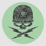 Atomic Pirate Round Sticker