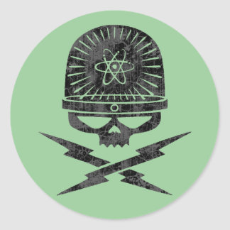 Atomic Pirate Round Sticker
