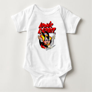 Atomic Rabbit funny furry animal superhero Baby Bodysuit