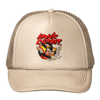Atomic Rabbit funny furry animal superhero Cap