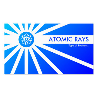 Atomic Rays - Blue Shaded Pack Of Standard Business Cards