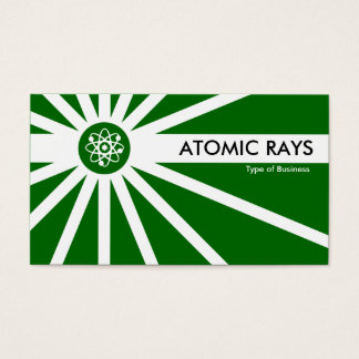 Atomic Rays - Dark Grass Green Business Card