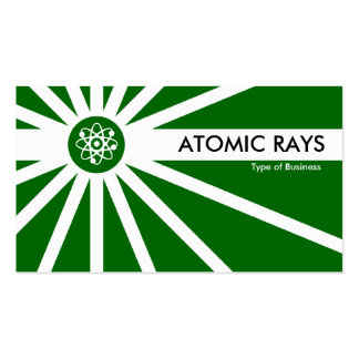 Atomic Rays - Dark Grass Green Pack Of Standard Business Cards