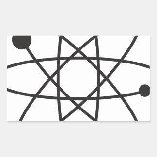 Atomic Rectangular Sticker