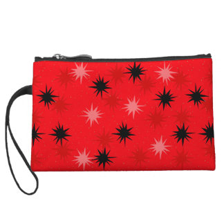 Atomic Red Starbursts Cosmetic Bag