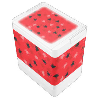 Atomic Red Starbursts Igloo Can Cooler Igloo Cooler