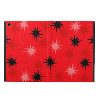 Atomic Red Starbursts iPad Air Case