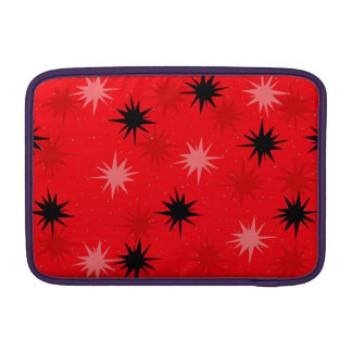 Atomic Red Starbursts MacBook Air Sleeve