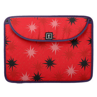 Atomic Red Starbursts MacBook Pro Sleeve