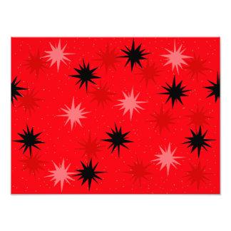 Atomic Red Starbursts Photo Paper