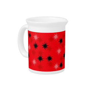 Atomic Red Starbursts Pitcher