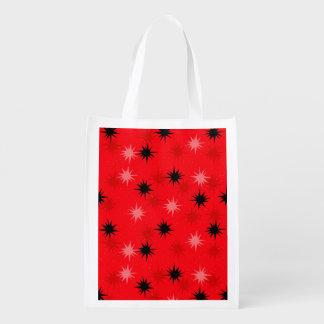 Atomic Red Starbursts Reusable Bag