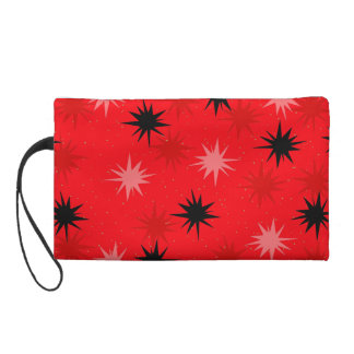 Atomic Red Starbursts Wristlet
