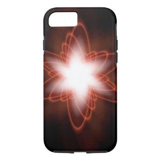 Atomic Red Swirls iPhone 7 Case
