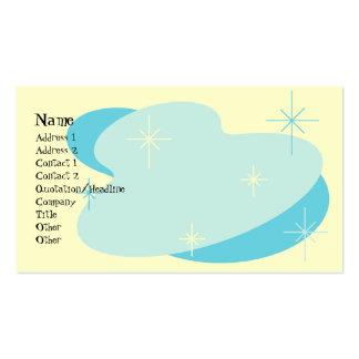 Atomic Retro Aqua Blue & Cream Pack Of Standard Business Cards