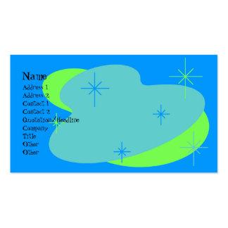 Atomic Retro Blue & Green Business Card