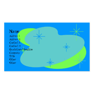 Atomic Retro Blue & Green Pack Of Standard Business Cards