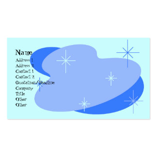 Atomic Retro Blue Pack Of Standard Business Cards