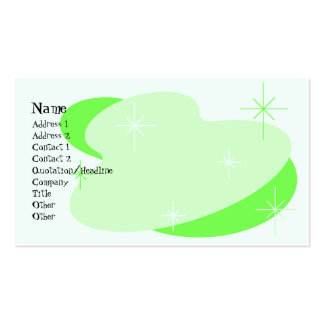 Atomic Retro Green Pack Of Standard Business Cards