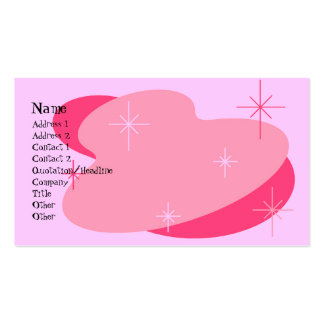 Atomic Retro Pink Pack Of Standard Business Cards