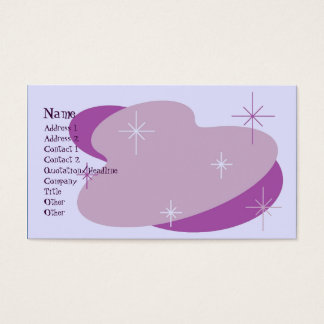 Atomic Retro Purple Business Card