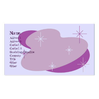 Atomic Retro Purple Pack Of Standard Business Cards