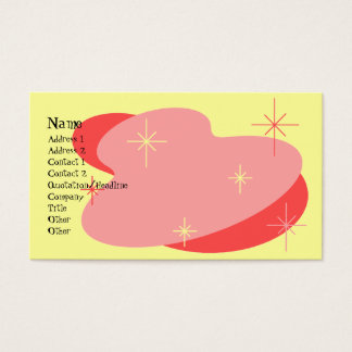 Atomic Retro Red & Yellow Business Card