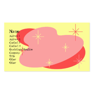 Atomic Retro Red Yellow Business Card Template