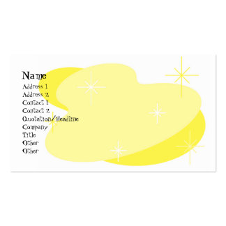 Atomic Retro Yellow & White Pack Of Standard Business Cards