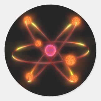 Atomic Round Sticker