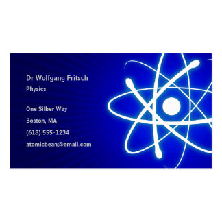 Atomic Scientist Pack Of Standard Business Cards