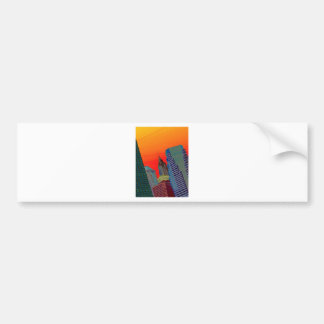 Atomic Skyline Bumper Sticker