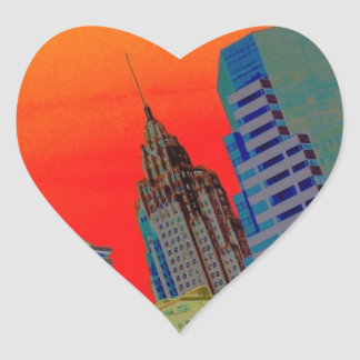 Atomic Skyline Heart Sticker