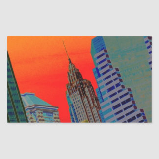 Atomic Skyline Rectangular Sticker