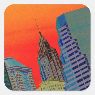 Atomic Skyline Square Sticker