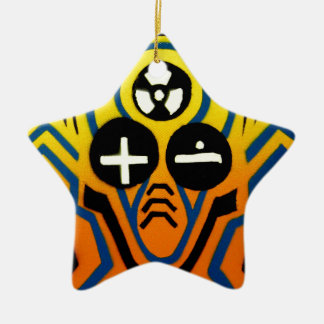Atomic sound wave man ceramic star decoration