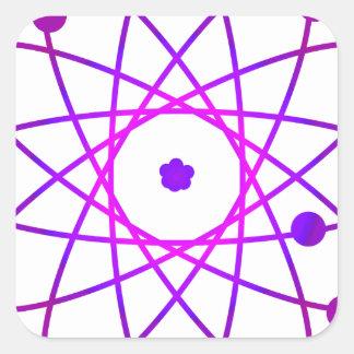 Atomic Square Sticker