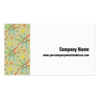 Atomic Starburst Retro Multicolored Pattern Business Cards