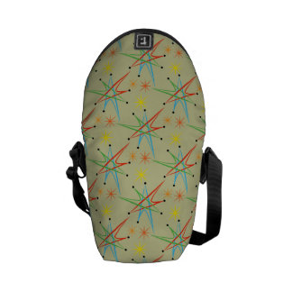 Atomic Starburst Retro Multicolored Pattern Courier Bags