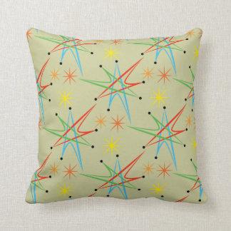 Atomic Starburst Retro Multicolored Pattern Cushion