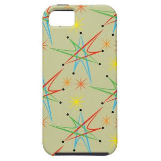 Atomic Starburst Retro Multicolored Pattern iPhone 5 Cases