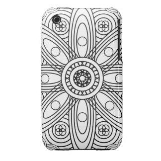 Atomic Structures Mandala iPhone 3 Case