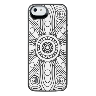 Atomic Structures Mandala iPhone SE/5/5s Battery Case